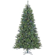 Fraser Hill Farm 6.5 Ft. Canyon Pine Christmas Tree with Multi-Color LED String Lighting (FFCM065-6GR)
