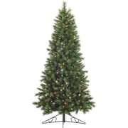 Fraser Hill Farm 6.5-Ft. Canyon Pine Half-Wall or Corner Christmas Tree with Clear Lights (FFCM065W-1GR)
