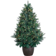 Fraser Hill Farm 5-Ft. Northern Cedar Teardrop Christmas Tree with Multi-Color LED Lights and EZ Connect (FFNC050-6GREZ)