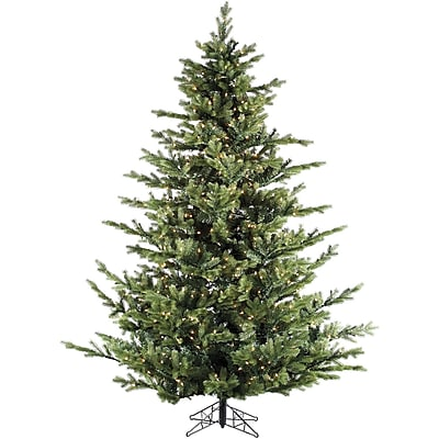 Fraser Hill Farm 12.0-Ft. Foxtail Pine with Clear Smart Lights and EZ Connect (FFFX012-3GR)