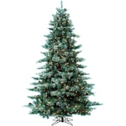 Fraser Hill Farm 9.0-Ft. Glistening Pine Tree with Pine Cones, Clear LED Lights and EZ Connect (FFGP090-5GR)