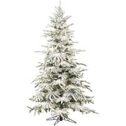 Fraser Hill Farm 9 Ft. Flocked Mountain Pine Christmas Tree with Smart String Lighting (FFMP090-3SN)