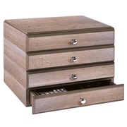 Bindertek Stacking Wood Desk Organizers, 4 Supply Drawer Kit (WK7-DR)