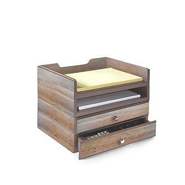 Bindertek Stacking Wood Desk Organizers 2 Tray Drawer Kit Wk8 Dr