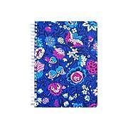 "Vera Bradley Pocket Notebook, 6.25"" x 8.25"", College Ruled, 80 Sheets, Bloom Berry (201863)"
