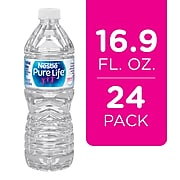Nestle Pure Life Purified Water, 16.9 Fl oz. Plastic Bottled Water, 24/Carton (110109)