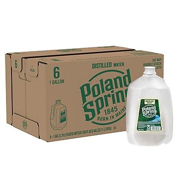 Poland Spring Distilled Water, 1-Gallon Plastic Jug, 6/Carton (12220247)