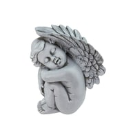 "Northlight 7"" Heavenly Gardens Gray Left Facing Sleeping Cherub Angel Outdoor Patio Garden Statue (32039268)"