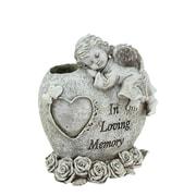 "Northlight 6.5"" Religious ""In Loving Memory"" Sleeping Bereavement Angel Outdoor Garden Statue Bud Vase (32037097)"