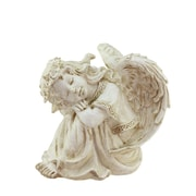 "Northlight 8.5"" Heavenly Gardens Distressed Ivory Religious Resting Angel Outdoor Patio Garden Statue (32039216)"