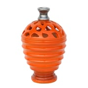 "Northlight 9.5"" Tangerine Orange and Gray Decorative Outdoor Patio Cutout Vase (32230541)"