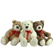 "Northlight Set of 3 Brown  Tan & Cream Plush Children's Teddy Bear Stuffed Animal Toys 20"" (32283889)"
