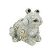 """Northlight 17.3"""" Weathered Gray Stone-Inspired Frog Outdoor Patio Garden Statue (31565273)"""