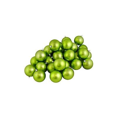 "Northlight 60ct Matte Green Kiwi Shatterproof Christmas Ball Ornaments 2.5"" (60mm) (31744242)"