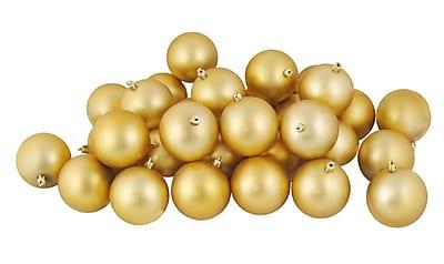 Northlight 60ct Matte Vegas Gold Shatterproof Christmas Ball Ornaments 2.5