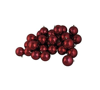 Northlight 60ct Shiny Burgundy Red Shatterproof Christmas Ball Ornaments 2.5