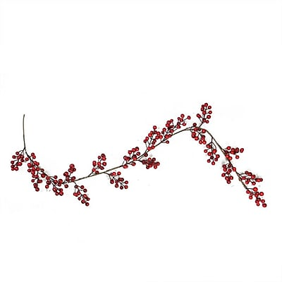 Northlight 5' Decorative Shiny Red Berries Artificial Christmas Garland - Unlit (32258175)