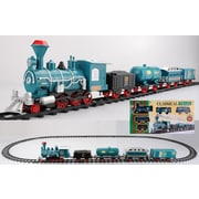 Northlight 17-Piece Green Battery Operated Lighted & Animated Consumate Model Train Set with Sound (31759125)