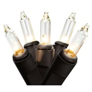 """Northlight Set of 50 Clear Mini Christmas Lights 2.5"""" Bulb Spacing - Black Wire (32264395)"""