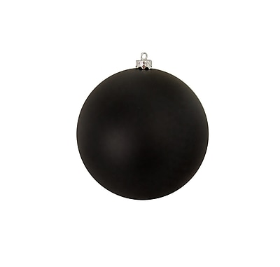 Northlight Matte Jet Black Shatterproof Christmas Ball Ornament 8