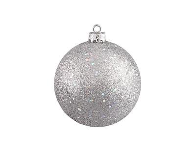Northlight Shatterproof Silver Splendor Holographic Glitter Christmas Ball Ornament 8