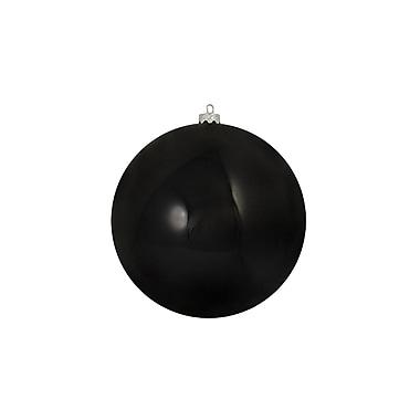 Northlight Shiny Jet Black Shatterproof Christmas Ball Ornament 8