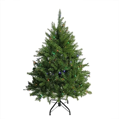 Northlight 4' Pre-Lit Northern Pine Full Artificial Christmas Tree - Multi-Color LED Lights (31748699)