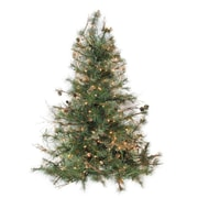 "Northlight 4' x 40"" Pre-Lit Country Mixed Pine Artificial Christmas Wall or Door Tree - Clear Lights (32266106)"