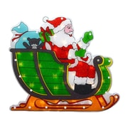 "Sienna 17"" Lighted Double-Sided Shimmering Santa in Sleigh Christmas Window Silhouette (30895678)"
