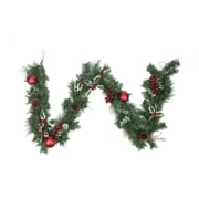 Northlight 6' Pre-Decorated Holly Berry  Pine Cone  Twig and Ball Artificial Christmas Garland - Unlit (31453766)