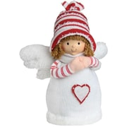 """Northlight 9"""" White and Red Angel Boy with Heart Inspirational Christmas Tabletop Decoration (32259539)"""