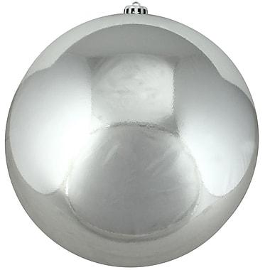 Northlight Shiny Silver Splendor Shatterproof Christmas Ball Ornament 8
