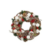"""Northlight 20"""" Frosted Pine Cone  Twigs and Berries Artificial Christmas Wreath - Unlit (31743576)"""