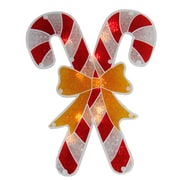 "Sienna 12"" Lighted Double-Sided Holographic Candy Cane Christmas Window Silhouette (30924651)"