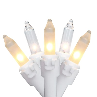 Brite Star Set of 100 Clear Frosted Mini Christmas Lights 4.25