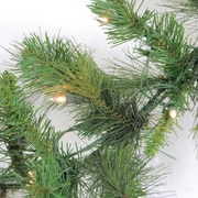 "Northlight 9' x 12"" Pre-Lit Canyon Pine Artificial Christmas Garland - Clear Lights (32270527)"
