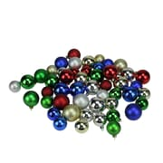 "Northlight 50ct Traditional Multi-Color Shiny & Matte Shatterproof Christmas Ball Ornaments 1.5""-2"" (32282344)"