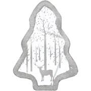 "Northlight 10.25"" Pre-Lit LED White Sparkle Tree Woodland Scene Christmas Table Top Decoration (32266816)"