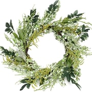 """Northlight 12"""" Green and Brown Decorative Mixed Berry Artificial Spring Floral Twig Wreath - Unlit (31812267)"""