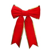"""Dyno 36"""" x 50"""" Commercial Structural 2-Loop Red and Gold Outdoor Christmas Bow (31736752)"""