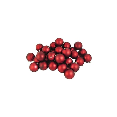 Northlight 60ct Matte Red Shatterproof Christmas Ball Ornaments 2.5