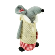 """Northlight 12"""" Standing Mouse with Beige Hooded Coat Christmas Tabletop Decoration (32259791)"""