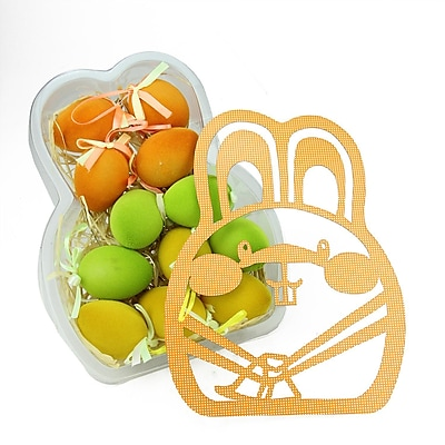 Northlight Set of 12 Orange Green and Yellow Spring Easter Egg Ornaments 2.5