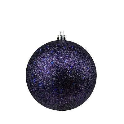 Northlight Indigo Blue Holographic Glitter Shatterproof Christmas Ball Ornament 4