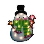 "Impact 23.75"" Lighted Shimmering Snowman with Candy Cane Christmas Window Silhouette Decoration (31728761)"