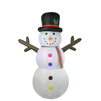 LB International 8' Inflatable Lighted Twinkle Snowman Christmas Yard Art Decoration (32281297)