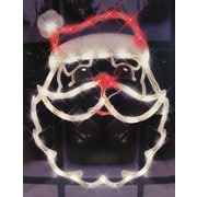 "Impact 18"" Lighted Santa Claus Face Christmas Window Silhouette Decoration (5551483)"