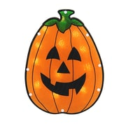 "Sienna 12"" Lighted Holographic Pumpkin Halloween Window Silhouette Decoration (30889322)"
