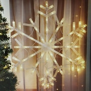 "Northlight 23"" Lighted Snowflake Christmas Window Silhouette Decoration (32263136)"