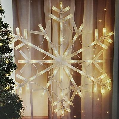 "Northlight 23"" Lighted Snowflake Christmas Window Silhouette Decoration (32263136)"
